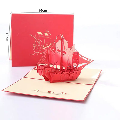 Sailing boat pop up card