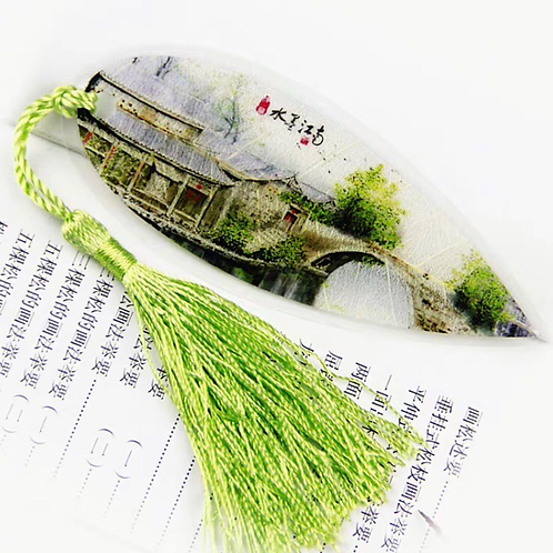 Leaf bookmark Green View