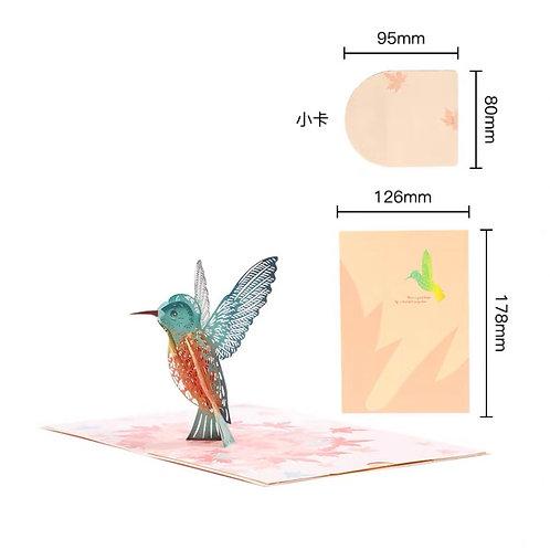 Hummingbird pop up card