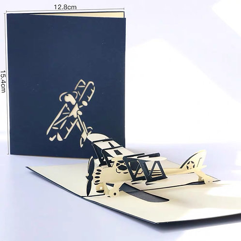 Plane airplane popup card