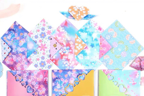 Floral Craft paper (pack of 10 pieces of paper)