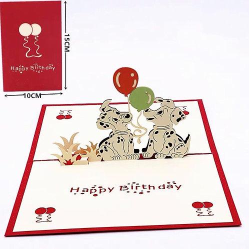 Doggy birthday pop up cards