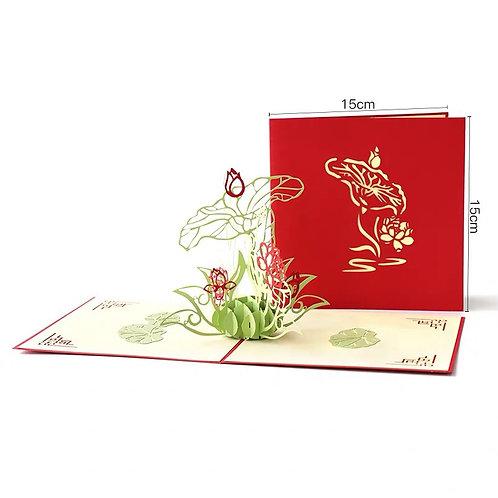 Lotus flower popup card