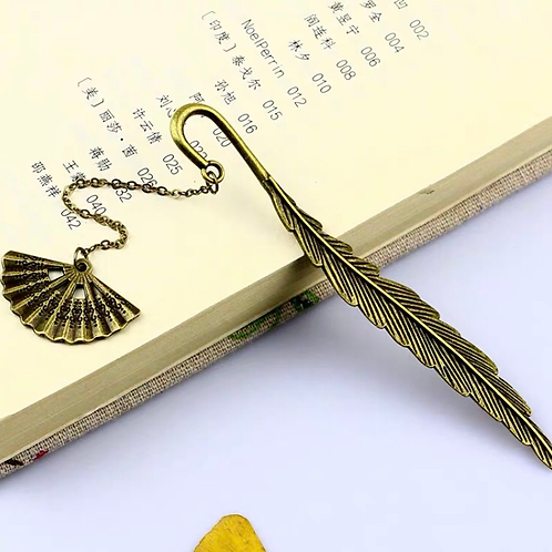 C&C feather metal bookmark (free gift box)