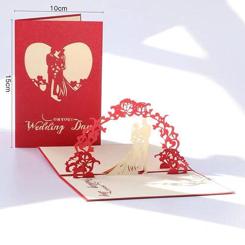 Wedding pop up card