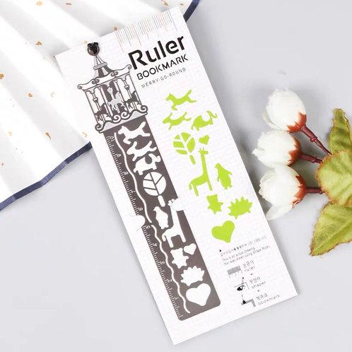 Ruler bookmark - green