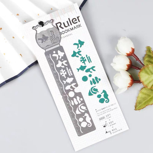 Ruler bookmark - dark green