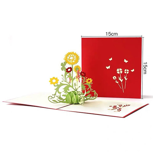 Sunflower pop up card