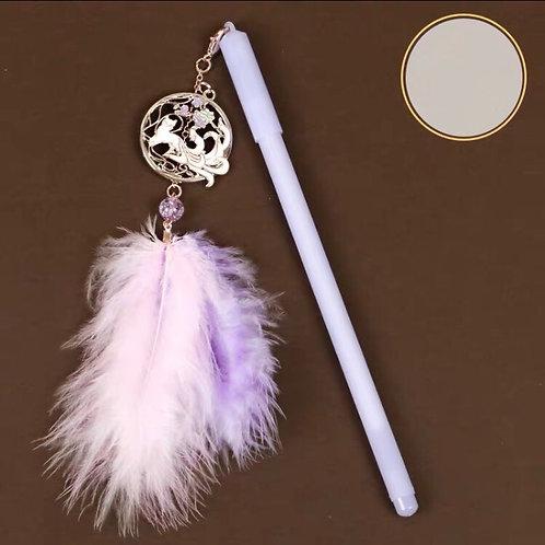 Pen with fox pendant 4 designs