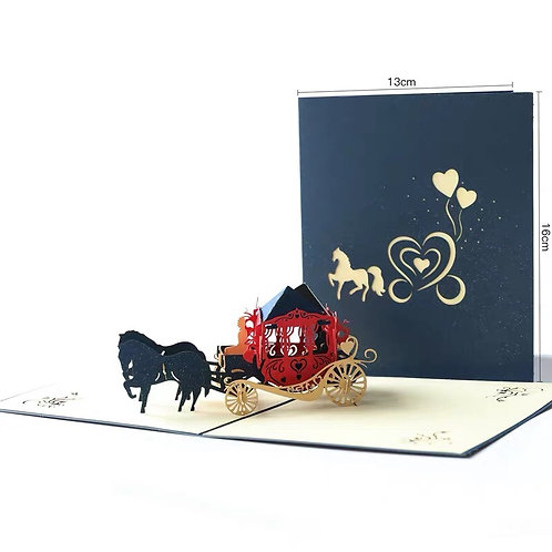 Royal Carriage pop up card