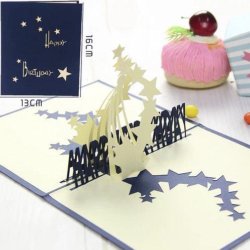 Birthday stars pop up card