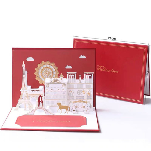 Fall in love romantic pop up card