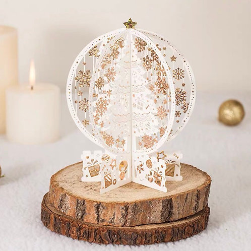 Christmas tree standing pop up card