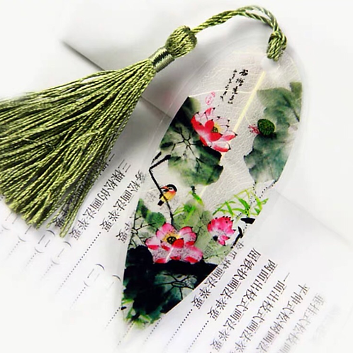 Leaf bookmark Lotus flower style 5