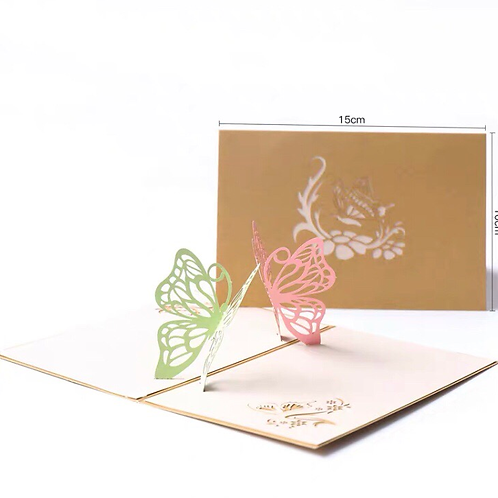 Small butterfly pop up card