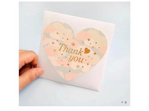 Thank you card - heart shape