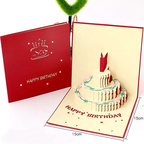 Birthday cake (red cover) style 2