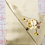 Thumbnail: Double sided silk embroidery scarf - peony butterfly gold