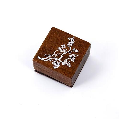 Oriental Wood Rubber stamp - Flower