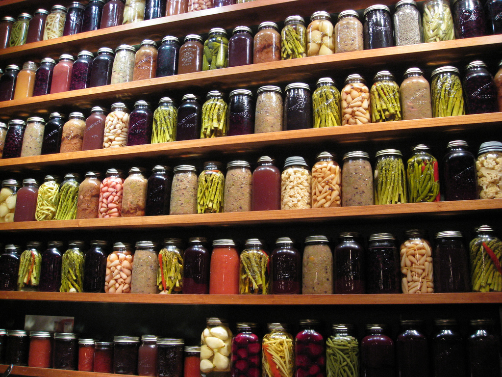 Wall of Preserves & Pickles