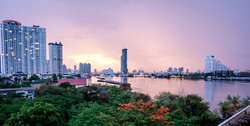 Sunrise over the Chao Phraya River