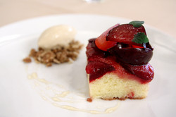 Italian Prune Plum Upside Down Cake