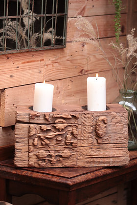 Reclaimed pillar candle holder (No:2)