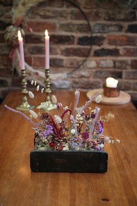 Dried flower table centrepiece