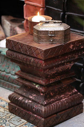 Indian Pillar side table / plant stand / stool