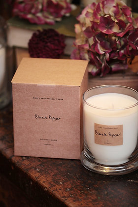 Black pepper scented candle by AEQUILL