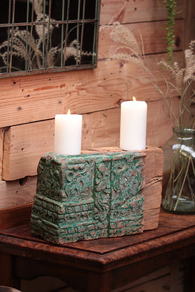 Reclaimed pillar candle holder (No:3)