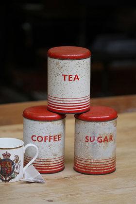 Retro Tea, Coffee & Sugar canisters