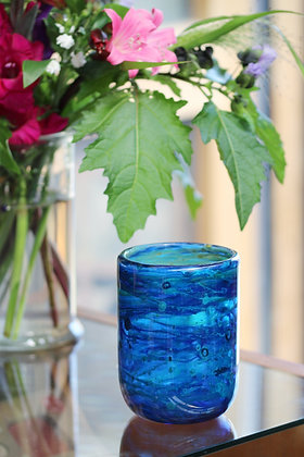 Rare IOW glass vase by Micheal Harris