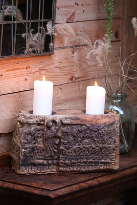 Reclaimed pillar candle holder (No:13)