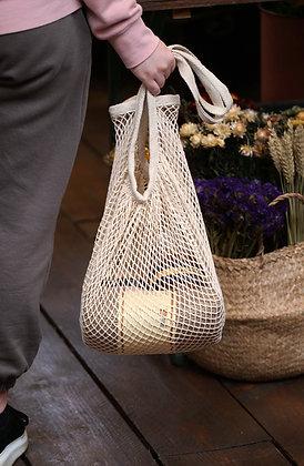 Fair trade mesh shopping bag
