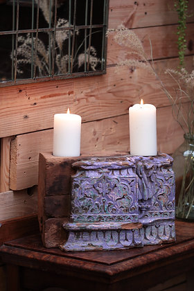 Reclaimed pillar candle holder (No:6)