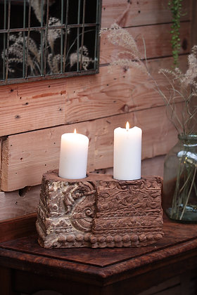 Reclaimed pillar candle holder (No:7)