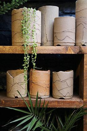 Rustic plant pots by Jenni Ellman