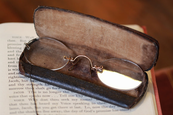 ANTIQUE FRAMELESS GLASSES