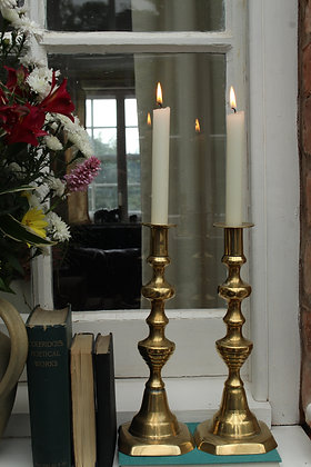 Brass candle stick holders (No10)