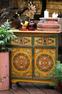 Tibetan painted cabinet