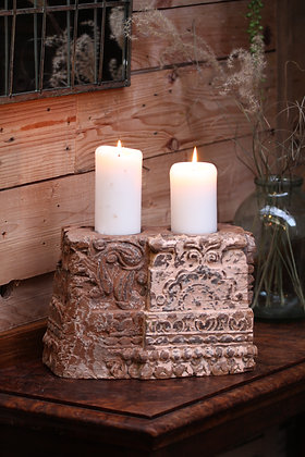 Reclaimed pillar candle holder (No:15)
