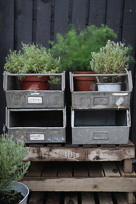 Galvanized stacking tubs
