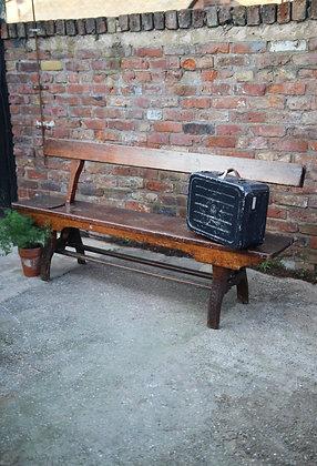 Antique railway bench