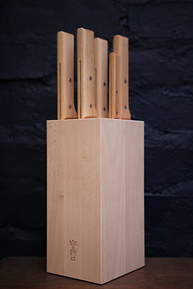 Opinel 5 Piece Parallèle Set with Knife Block