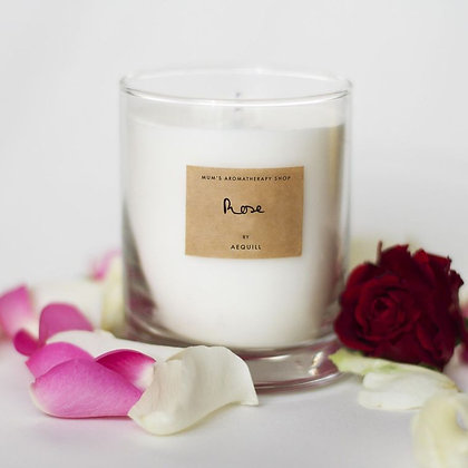 Rose scented candle by AEQUILL