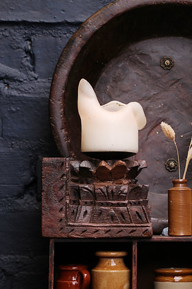 INDIAN CANDLE HOLDER: Wall mounted candle sconce