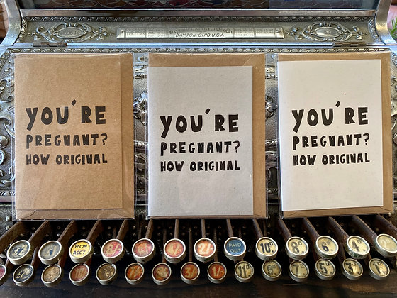 You're pregnant?