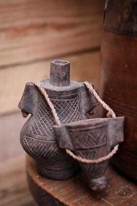 Antique African gun powder container
