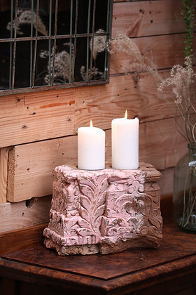 Reclaimed pillar candle holder (No:10)